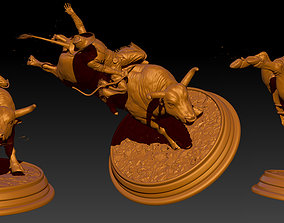 Bull fighting STL - OBJ - ZTL file 3D print model