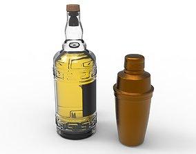 WhiskyBottle 3D