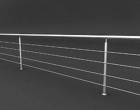 Steel Railing 3D model