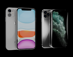 iPhone 11 and 11 Pro 3D model