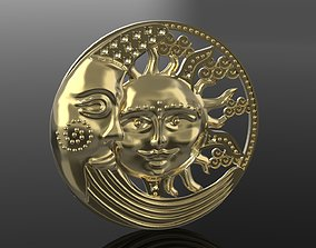 wealth Sun and Moon pendant 3D printable model