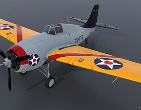 3D model GRUMMAN F4F-3 WILDCAT 72F2