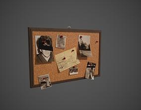 Detective Pinboard 3D asset