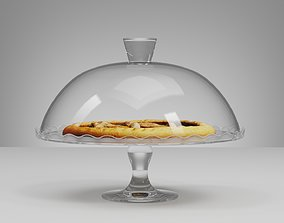 Glass Cake Stand Base Dome Bell and Scanned 3D model
