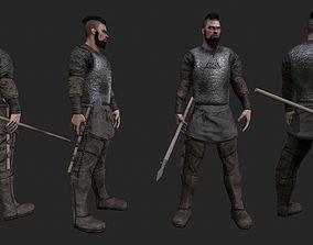 Realistic viking model 3D asset