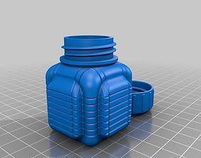 bottle 3D print model Bottle and Screw Cap