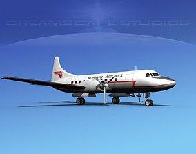 Convair CV-340 Mohawk Airlines 3D model