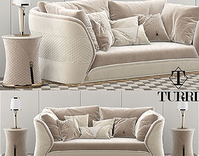 Turri vogue sofa set 3D model