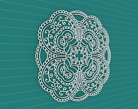 3D interior abstract Mandala
