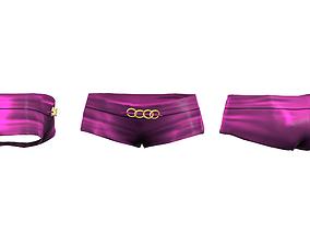 Ladies Mini Shorts 3D asset