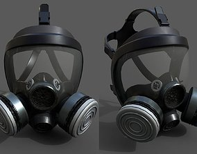 PBR Gas mask helmet 3d model military low poly