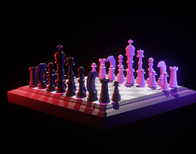 3D model Lowpoly Chess Board