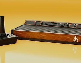 Atari 2600 and joystick 3D model