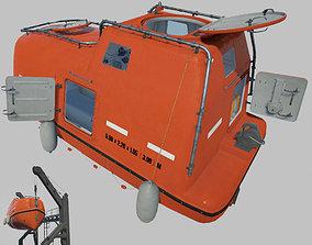 VR / AR ready Life Boat 3D model