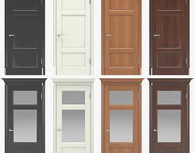 3D architecture Classic interior doors 01