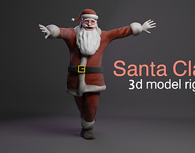 3D asset Santa Claus rigged