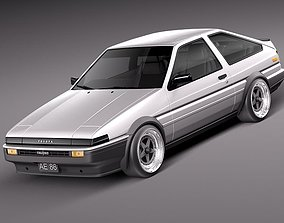 Toyota AE86 Levin 1983 1987 3D Model