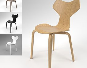 Fritzhansen Grand Prix Wooden Chair Blender Cycles 3D