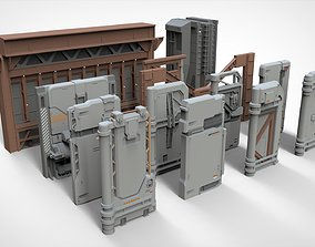 sci-fi Architecture kitbash 18 3D
