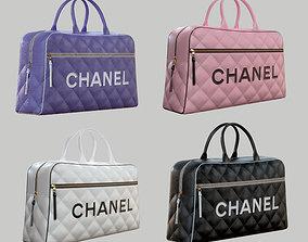 CHANEL Vintage Logo Bowler Bag Quilted 3D model