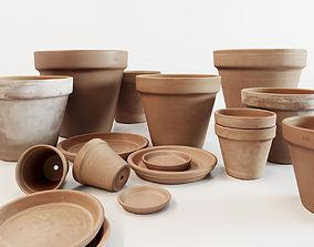3D Terracotta Pot Set