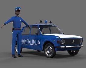 Zastava 101 police 3D