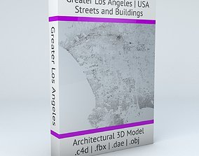 Greater Los Angeles Streets and Buildings 3D model