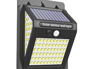 Solar Wall Lights LED Outdoor Garden Motion Sensor 3D