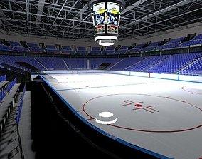 3D model low-poly Ice Hockey Stadium