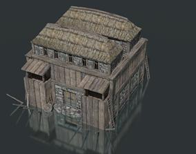 Nordic Fortress 3D asset