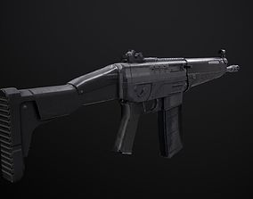 game-ready Sig Assault Rifle - Model and Textures 2