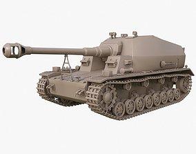 3D Tank K18 Auf Panzer Clay
