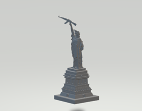 3D print model Statue of Liberty Has AK47
