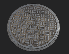 City Manhole 3D model game-ready