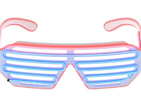 3D model Wire Neon LED Glasses