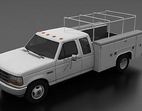 3D asset F-350 1992-1997 DRW SuperCab Service Utility
