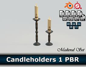 Candleholders 1 PBR 3D asset
