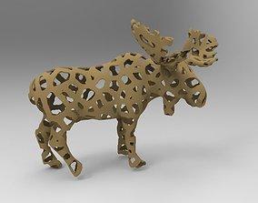 Voronoi Moose 3D print model moose