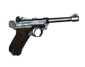 3D asset Luger P08 Parabellum