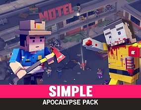 Simple Apocalypse - Cartoon Assets 3D model