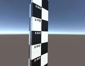 A VR measuring stick 3D model