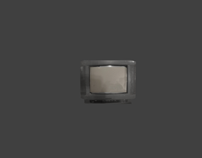 Old Tv electronics 3D asset low-poly