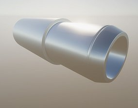 3D asset Straight Exhaust Pipe