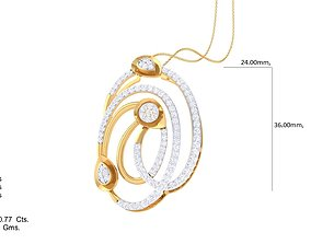 Italian pendant set pendant with top 3D