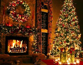 Christmas tree 3D model PBR
