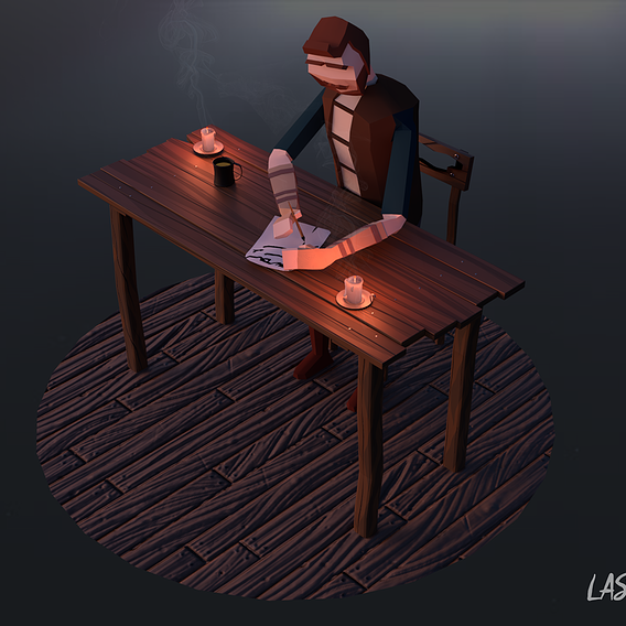Low Poly Scene 01