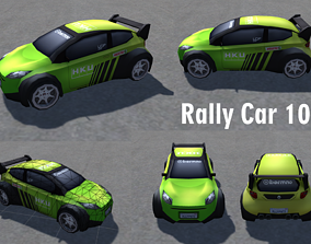 Racing Cars low-poly 3d models realtime