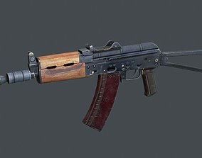 AKS-74u 3D asset game-ready