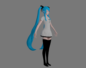 HATSUNE MIKU I anime model 3D