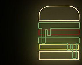 3D Neon sandwich